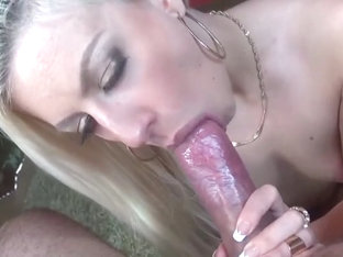 Blonde Teasing Licking Blowjob With Mouth Cumshot
