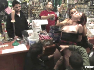 Hot Redhead Gets Publicly Fucked And Fondled In A Hardware Store - Publicdisgrace