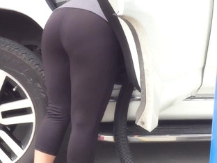 Awesome Mexican MILF Car Wash Vpl 1