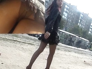 Nylon Panty-pantyhose Upskirt Discharged