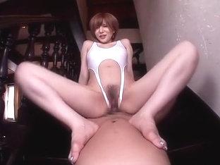 Crazy Japanese Girl Yuria Satomi In Horny Doggy Style, Big Tits Jav Scene