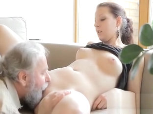 Young Chick Licked And Gives A Oral Job To An Old Dude