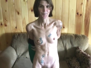 Skinny Tattooed Wife Flashing Her Hairy Pussy Compilation