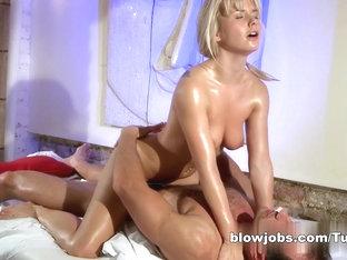 Exotic Pornstars In Fabulous Blonde, Massage Porn Clip