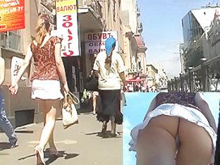 White Mini Upskirt