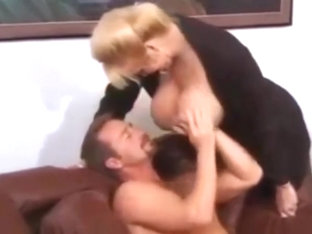 Big Tits Blonde Mature Fucked On Couch
