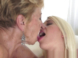 Petite Teen Pleasured By Fat Granny