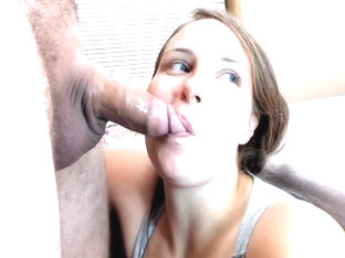 Beautiful Girl Deepthroats Daddys Small Cock