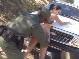 Blonde Interracial Police Latina Babe Fucked By The Law
