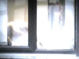 I Spy My Neighbors Dark Haired Wife In Black Lingerie