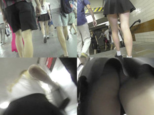 Upskirt Footage Of G-string Of A Girl In Mini Skirt