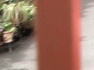 Black-haired Teen Babe Getting Fully Revealed When Sharking Fella Grabs Her Skirt