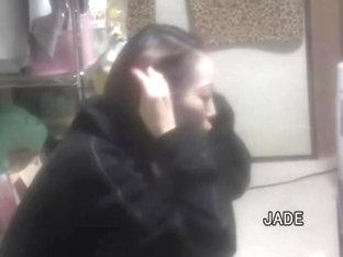 Hairy Asian Twat Drilled Really Hard In Horny Voyeur Video