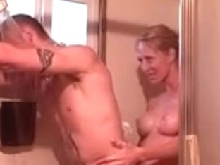 Non-professional Pair Having Joy In The Shower (no Sex Though)!