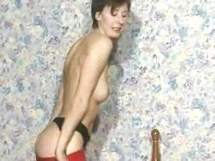 British Mother I'd Like To Fuck In Darksome Nylons Plays With A Sextoy