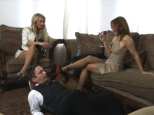 Mandservant Worships Mistresses' Heels