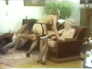 Busty Black Chick And Sexy White Maid Have Fun With Two Guys