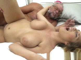 Busty European Beauty Loves Oldmans Cock