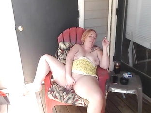 Afternoon Smoke On Balcony With Squirt And Joi