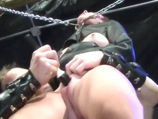 Sex Slave Bound And Chained As Shes Flogged And Brought To Orgasm