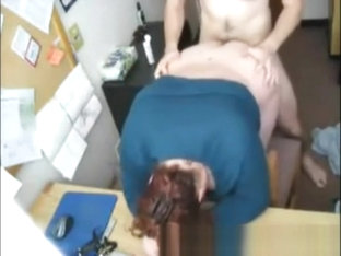Real Amateur Secretary Fuck On Table