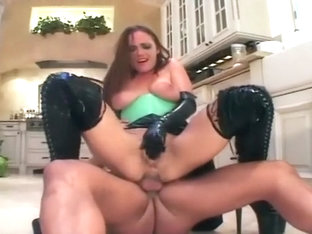 Pretty MILF Fucks In Latex Lingerie And Boots