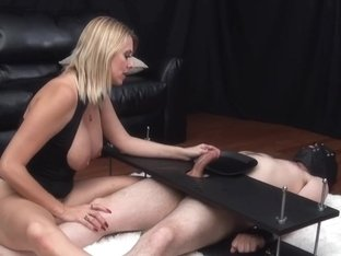 Mean Slavemaster Mother I'd Like To Fuck Uses Feeble Thrall During Tugjob