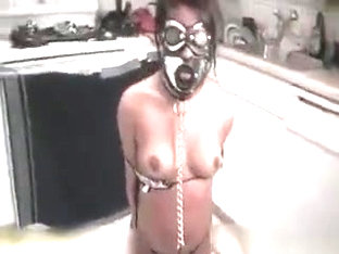 Sexy Brunette Babe Gets Masked