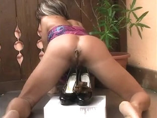 Horny Homemade High Heels, Solo Girl Sex Clip