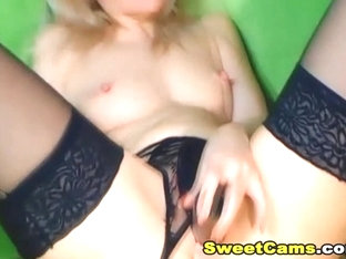 Hot Babe Fucked Herself With Creamy Dildo