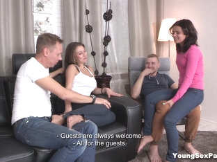 Young Sex Parties - Leza Balezi - Mary Dee - New Couch For A Sex Party