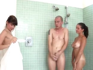 Teen And MILF Banging In The Shower