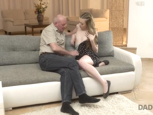 Daddy4k. Skinny Russian Teen Jessi Tastes Old Cock In Various Poses