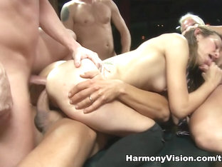 Exotic Pornstars Amber Rayne, Sheer Delight In Crazy Gangbang, Stockings Sex Movie