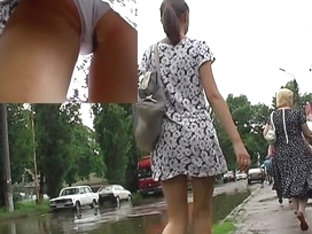 Alluring Outdoor Upskirt Movie Scene