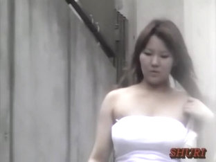 Long-haired Perky Babe Getting Her Breasts Squeezed By Sharking Chap