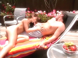 Nude Sunbather Cutie Turns On A Nearby Construction Worker And Gets Nailed Poolside