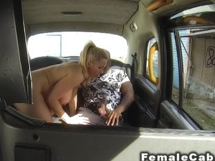 Busty Female Taxi Driver Bangs Big Black Cock