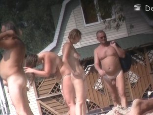 Lovely Babe From Nudist Beach Having Some Good Time