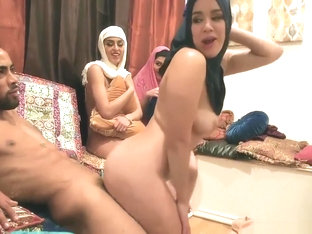 Teen Teacher HD First Time Hot Arab Nymphs Try Foursome