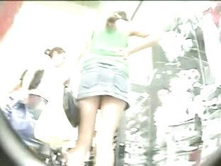 Juicy  Butts Bouncing Before An Upskirt Cam