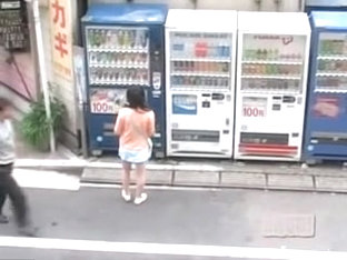 Thirsty Angelic Asian Gal Getting Pulled Into Sharking Affair In The Street