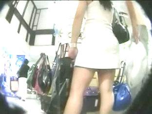 A Voyeur Upskirt Video Of Pretty Girls In White Thongs