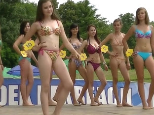 Stunning Competitors Wear Flimsy Bikinis To A Beauty Pageant