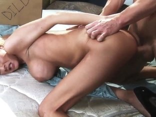 Johnny Sins Got His Blonde Girlfriend Riley Evans Standing Nude On The Bed In Doggy Style And Enjo.