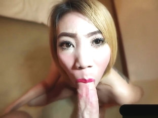 Thai Girl With Tattoo Sucking White Cock