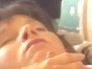 Mature In Stockings Caught Masturbating With A Dildo