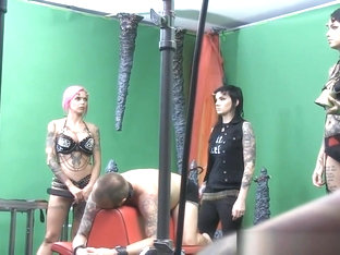Gorgeous Goth Whores Enjoy Domination