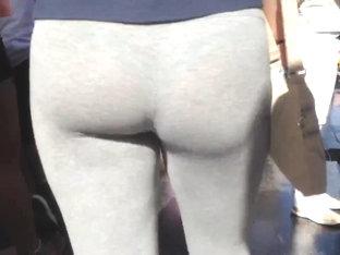 See Thru- Great Ass Grey Leggings