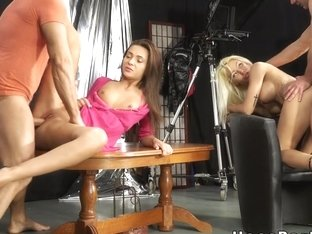 Amateurs Group Sex Party In Tv Studio